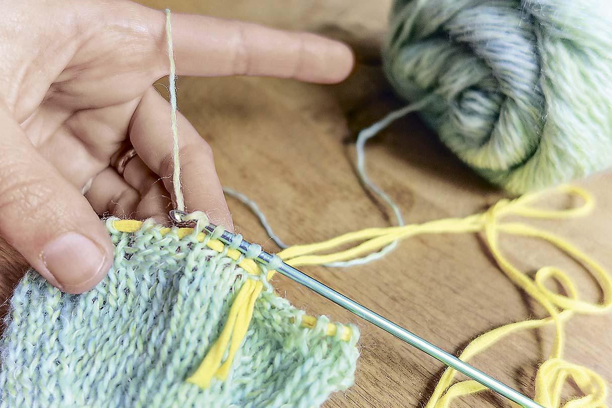 Носки по спирали в технике нукинг