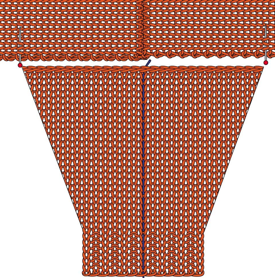 Схема вязания спущенного рукава фото 707